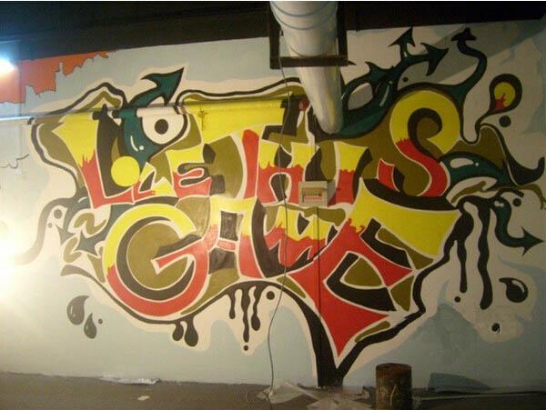 温州停车场壁画制作 地下停车场手绘墙绘