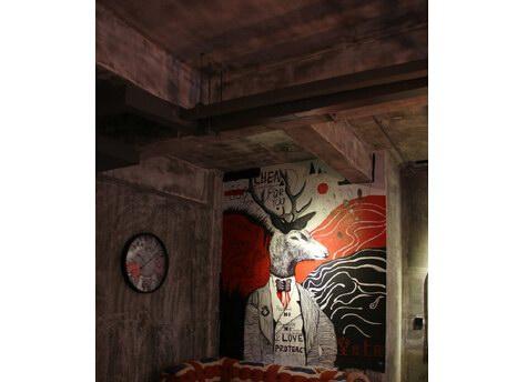 绵阳咖啡厅墙上绘画设计 咖啡馆手绘墙绘