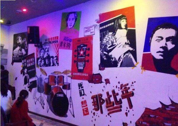 太原个性音乐手绘墙 太原墙绘公司哪家好