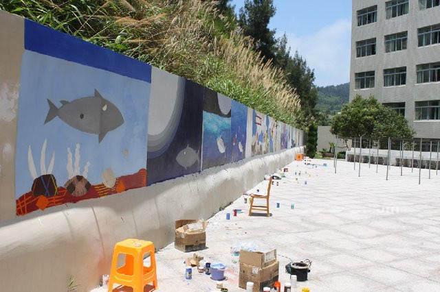 厦门围墙彩绘公司 在室外的各种围墙上画画