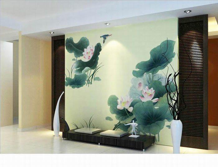 厦门中式墙绘制作 厦门中国风格墙绘公司