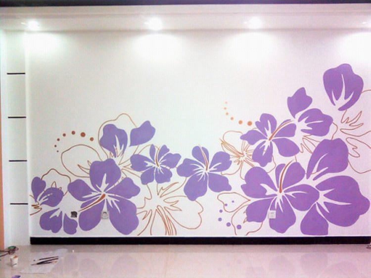 电视背景墙墙绘图片 电视背景墙彩绘素材