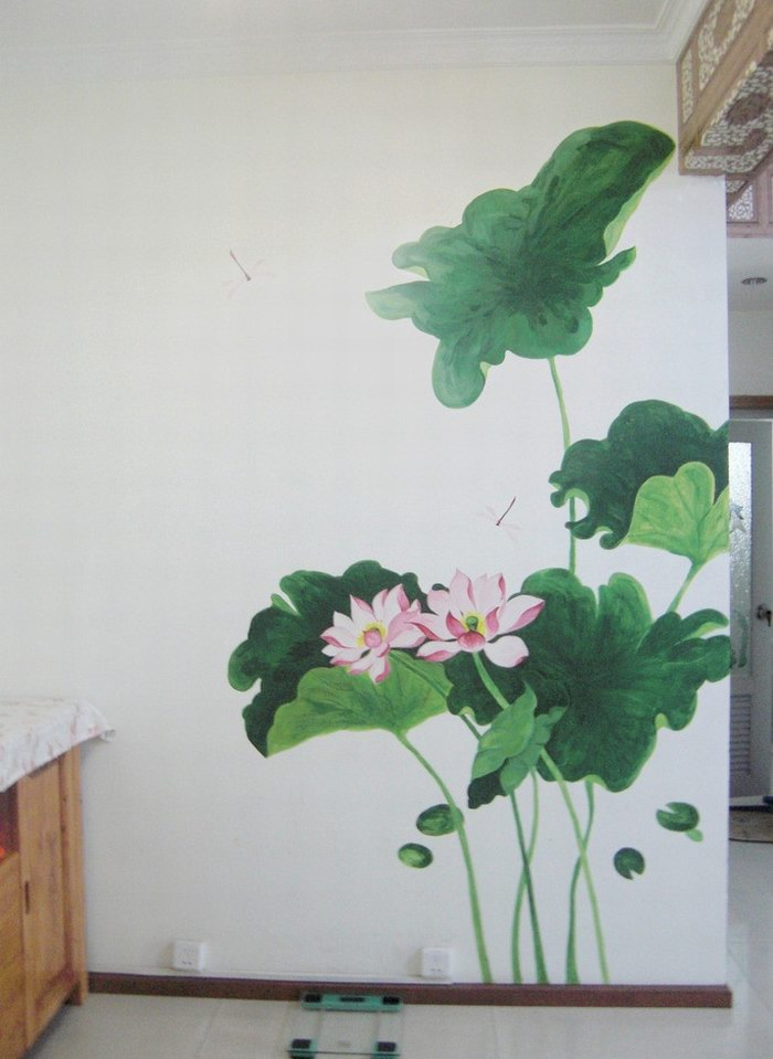 泉州荷花墙绘案例和价格