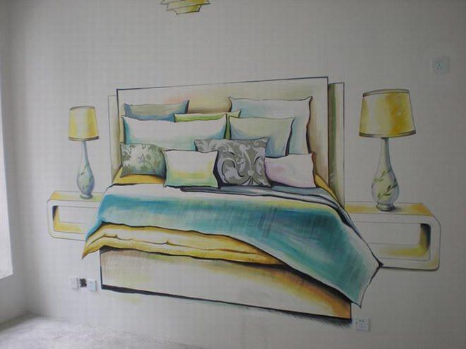 泉州清水样板房墙绘 案例 价格 设计图