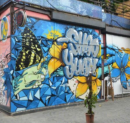 苏州户外墙体彩绘 流行涂鸦艺术墙绘