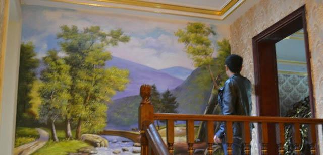 胶州幼儿园墙绘 3D画 酒店、KTV、足浴城、火锅店墙绘