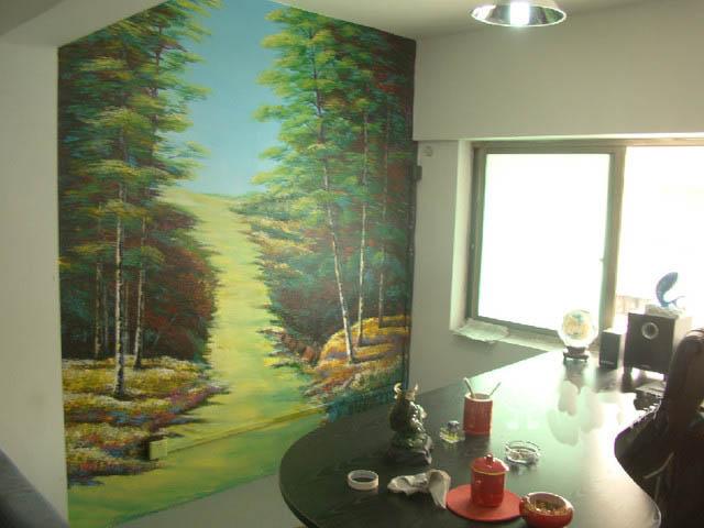三明办公室手绘墙 墙绘