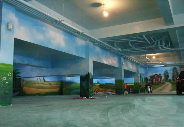 漳州地下停车场墙绘制作公司
