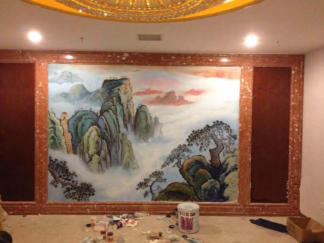 南平客厅中国风墙绘