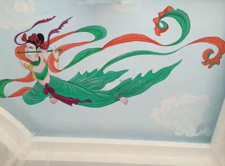 泉州天花吊顶墙绘手绘墙
