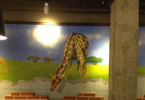 平潭餐厅壁画 墙绘 手绘墙 墙体彩绘