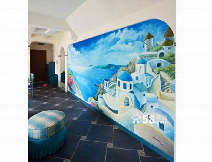 长乐墙绘公司 长乐家庭墙体彩绘 样板房墙绘 外墙墙绘