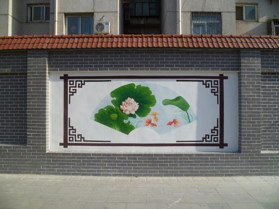 甘肃民乐南丰乡文化墙绘出美丽乡村