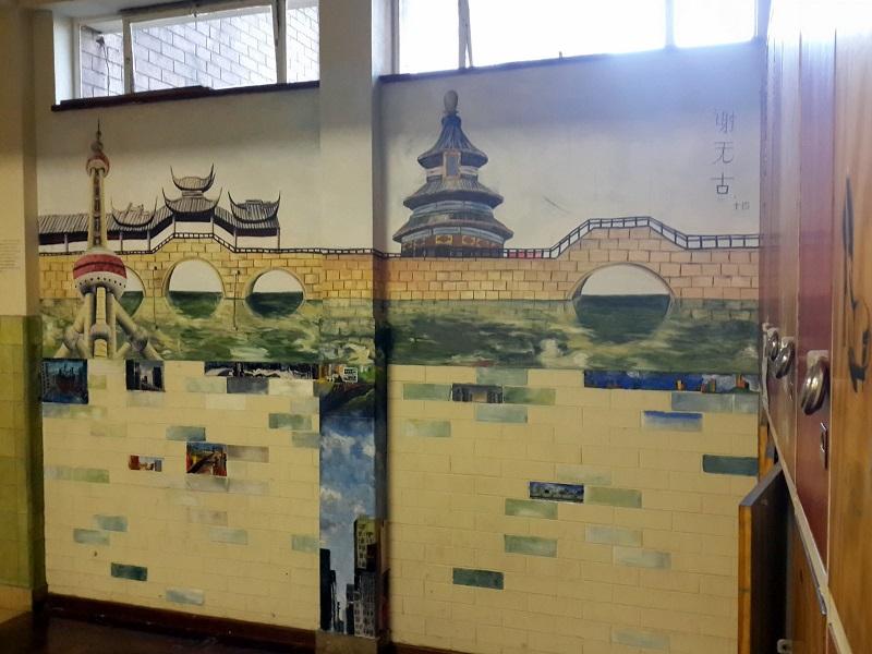 """南非德班孔子学院创作大型画作""""南非中国墙"""""""