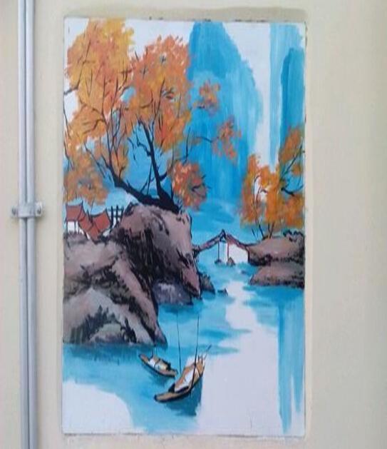 衡阳天心餐厅墙体彩绘