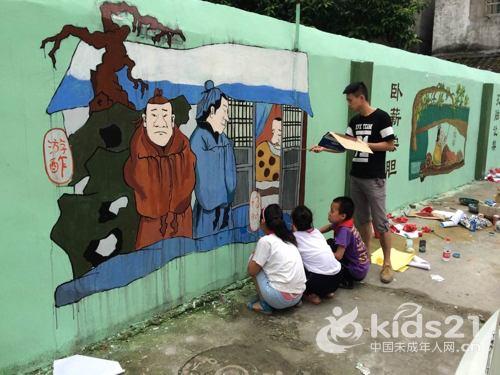 瓯海区西湖社区:开展传统文化主题墙绘活动