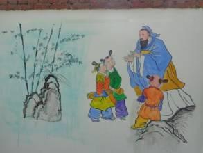 莆田手绘文化墙 传递正能量