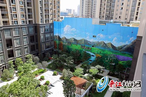 51米长23米高 3D风景墙绘亮相安海