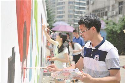 常州开展公益墙绘活动 宣传文明传播道德