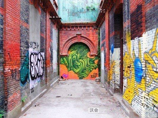 上海六大涂鸦墙 潮人们的秘境地[组图]