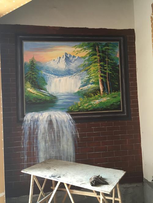 常德久光国际忆江南茶餐厅手绘墙