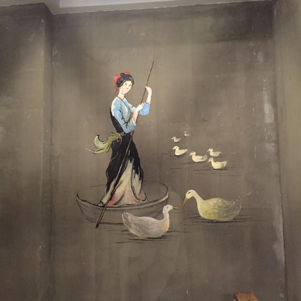 常德谷鸭先生餐厅墙绘案例