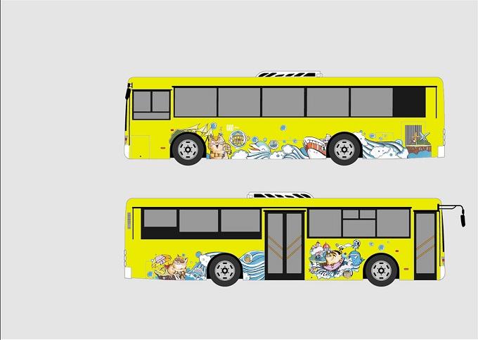公交手绘猫的想象世界