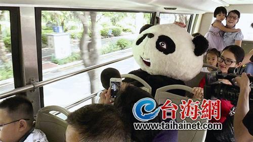 """厦门首部手绘公交""""熊猫巴士""""十月一号上路啦"""
