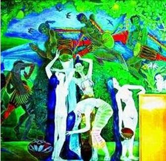北京首都国际机场曾被争议的壁画