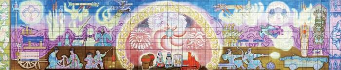 【看北京】图说北京地铁壁画三十年变迁史系列——建国门站
