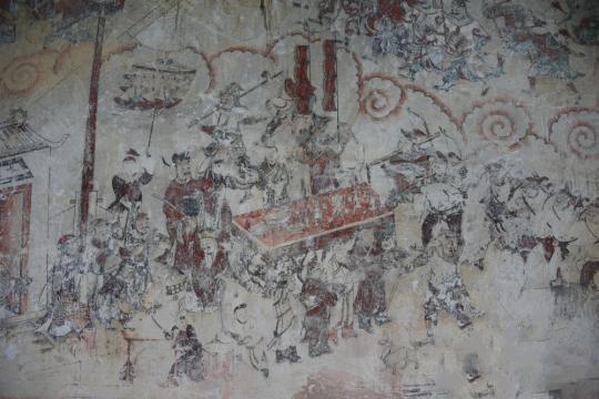 湖南江永勾蓝瑶寨发现明代壁画 约162平方米