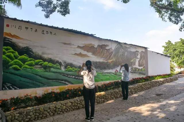 农村室外墙绘图片大全